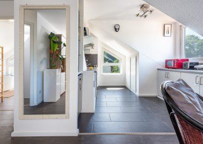 Offener Küchenbereich Dachgeschoss