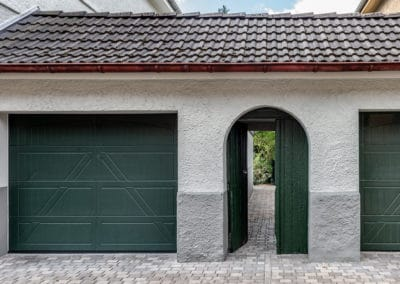 Garage und Gartenzugang
